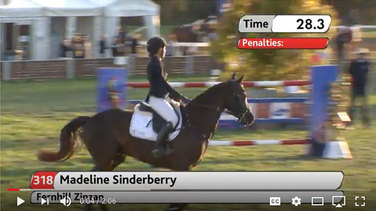 ASJC 2017 Young Rider Champion Madeline Sinderberry